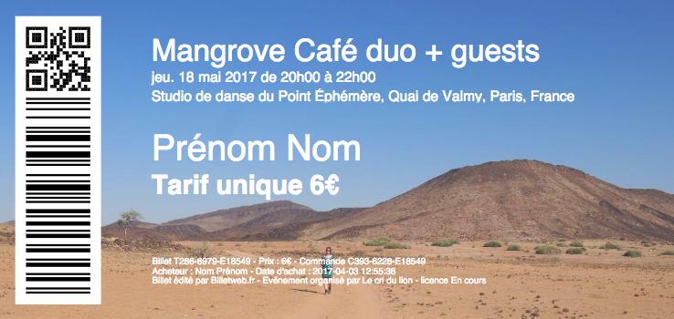 Mangrove Café duo + guests - Jeudi 18 mai 2017 à Point Ephémère